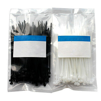 100pcs 3x100mm Formal Network Nylon Cable Wire Organiser Zip Tie Cord Strap