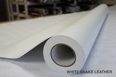 Vvivid Xpo 5ft x 7ft White Snake Leather Vinyl Vehicle Wrapping Film