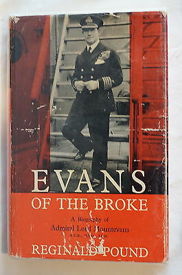WW1 British RN Evans of the Broke  Reference Book