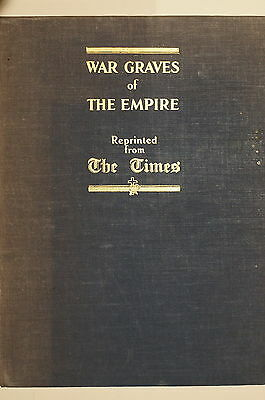 WW1 British Times War Graves of The Empire Armistice Reprint 1928 Reference Book