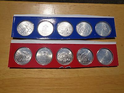 2008 State Quarters P & D Uncirculated Set Sealed Mint Cello 10 Coin Lot