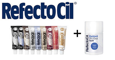 SET  RefectoCil Developer 50ml+ Eyebrow& eyelash tint various colours 15ML