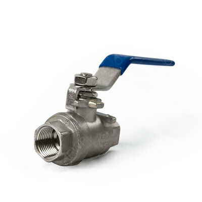 "1 pc) Stainless Steel Ball Valve Shut Off 3/8"" NPT"
