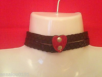 7 x REAL LEATHER CHOKERS,2 STYLES, £2 EACH, WHOLESALE LINGERIE, ACCESSORIES