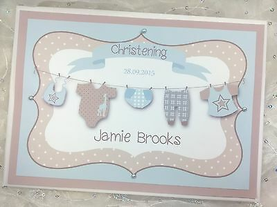 Personalised Christening Baptism Handmade Guest Book Baby Shower Washing