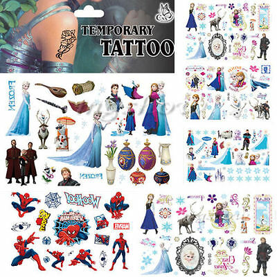 Kid Frozen Body Waterproof Cartoon Temporary Tattoo Stickers batman minion