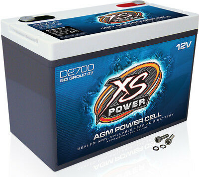 XS Power D375 12V AGM Battery, Max Amps   800A,  CA: 190, Ah:  15,