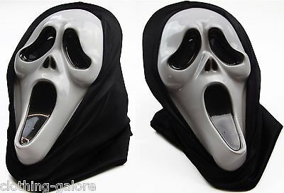 Scream Mask Scary Mask Mens Evil Halloween Party Horror Black Movie Face Costume