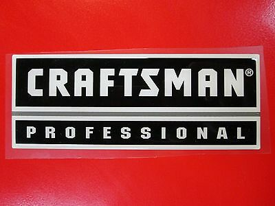 "Craftsman ""Professional"" Tool Box Badge: Chest/Cabinet,Emblem,Decal,Sticker,Logo"