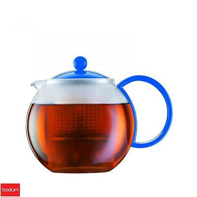 Bodum Assam Teapot Blue 4 Cup Coffee Espresso Serveware Kitchen Home New