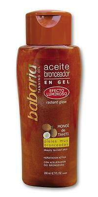 Babaria Aceite Bronceador Efecto Luminoso 200Ml / Tanning Oil Light Effect