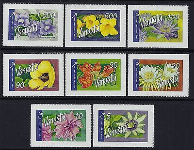 2006 Vanuatu Flowers Peel N Stick International Post Set Of 8 Fine Mint Mnh/muh