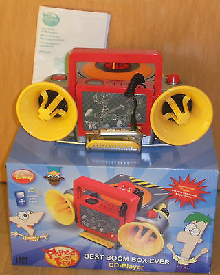 Disney Phineas and Ferb CD-Player Sirene Soundeffekte FX & LineIn Ok CD Defekt #
