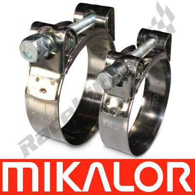 MIKALOR W2 Stainless Steel Heavy Duty Hose Clamps Supra Exhaust T Bolt Clips
