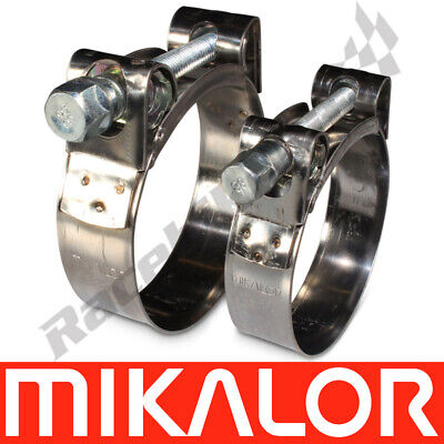 Mikalor Supra W2 430 Stainless Steel Hose Clamp Exhaust T Bolt Marine Heavy Duty