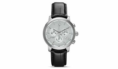 BMW Watch 80262365451 Chronograph Date Men's Leather Water Resistant Genuine New