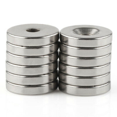 10pcs Neodymium N50 Strong Round Ring Magnets 20mm x 4mm Hole 5mm Rare Earth