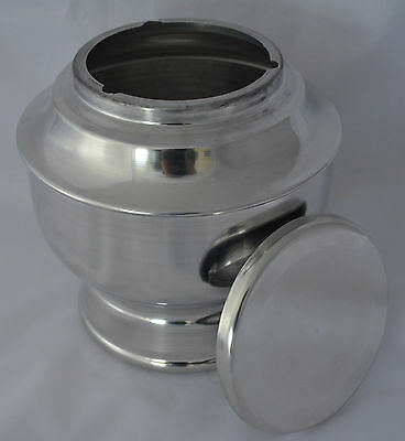 """MARTYNDALE"" Adult Cremation Urn - Silver/Chrome - Ashes Funeral Memorial Casket"