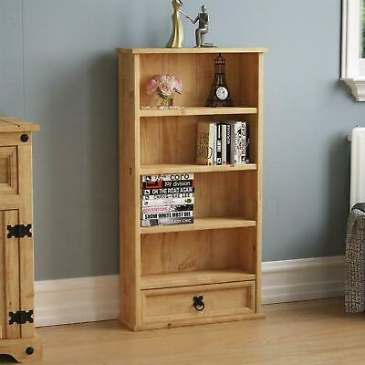 Corona DVD Rack 1 Drawer Shelf Unit Mexican Solid Waxed Pine By Home Discount