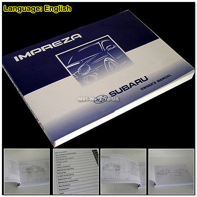 01~07 Subaru Impreza Version 7 A1841GE Owner Manual Handbook & Consumer #10611