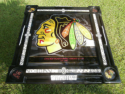 Chicago Blackhawks Domino Table & we will put your name by Domino Tables by Art