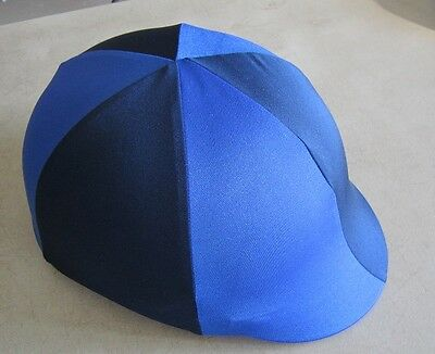 Horse Helmet Cover ALL AUSTRALIAN MADE Navy & Royal blue Any size you need