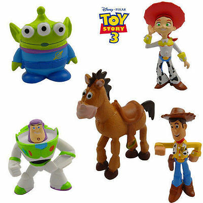 5Pcs Disney Toy Story Action Figure Kid Figurines Play Set Toy Cake Topper Decor