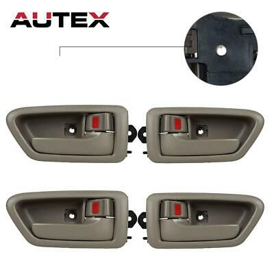 4 Front Rear Left and Right Side Beige Inner Door Handle for 97-01 TOYOTA CAMRY