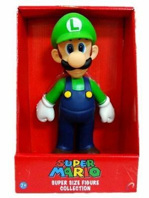 1 Large 25Cm Super Mario Game Luigi Action Figure Figurines Toy Gift Collection