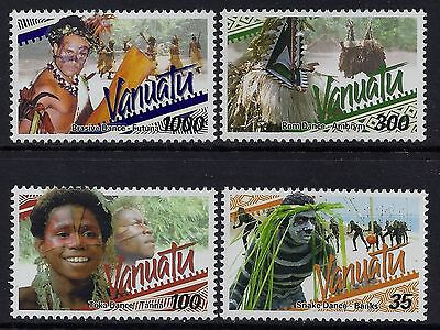 2001 Vanuatu Native Dancing Definitives Part Ii Set Of 4 Fine Mint Mnh/muh