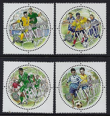 2002 Vanuatu Football/soccer Set Of 4 Fine Mint Mnh/muh