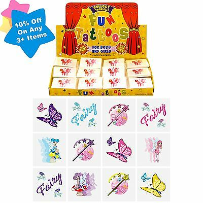 72 Girls Temporary Fairy Tattoos Toy Kids Xmas Gift Birthday Party Bag Filler