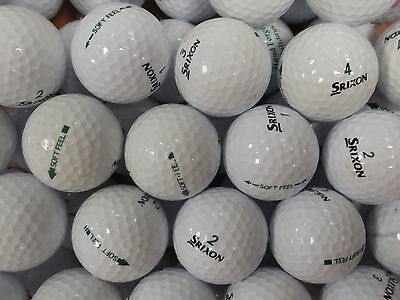 50 Srixon Soft Feel Golf Balls Grade 2 Lake Balls Free P&p