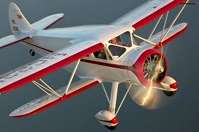 "Scale WACO AGC-8 Cabin Biplane 44"" Giant Scale RC AIrplane Printed Plans"