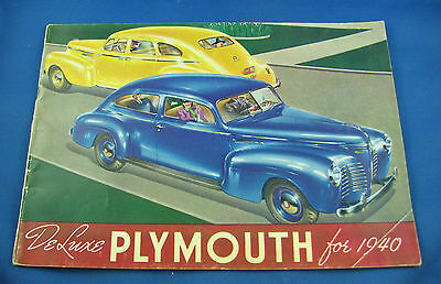 1940 Plymouth Sales Brochures De Luxe Plymouth very nice condition