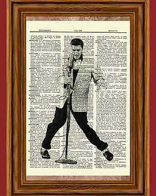 Elvis Presley Dictionary Art Print Book Page Picture Poster Stage Concert Icon
