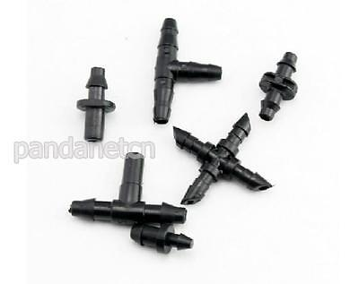 """Agricultural Garden Lawn Irrigation 1/4"""" Barb Drip Tee Connector Fittings 25PC"""