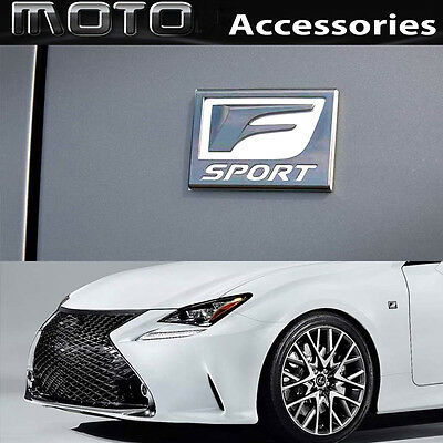 F-SPORT 3D Metal CHROME Badge Emblem Decal Sticker for Lexus IS RS GS CT RC LX