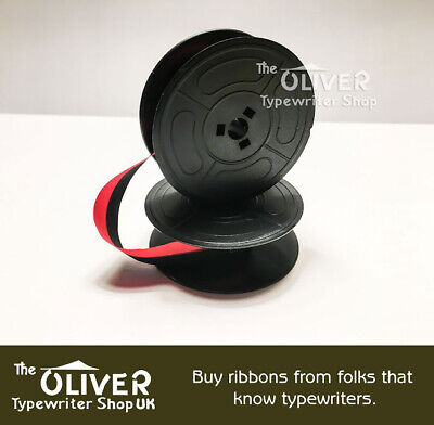 OLIVETTI TYPEWRITER RIBBON Black and Red: M44, 132,  Valentine  **High Quality**