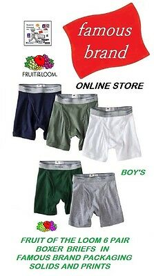 Fruit Of The Loom Classics Boys' Boxer Briefs 6-Pack in FAMOUS BRAND PACKAGING