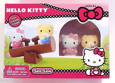Hello Kitty See Saw playset with two flocked figures
