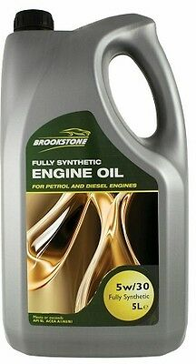 Brookstone 5W30 Fully Synthetic Engine Motor Oil - 5 Litre