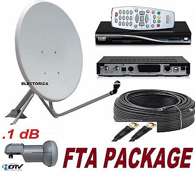 "39"" Satellite Dish Antenna + Dreambox Dm100 Fta Receiver + Lnb +100 Ft Rg6 Cable"