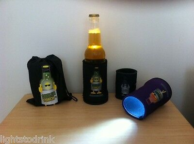 Cool Stubby Cooler Torch 6 Pack Black - Glow Products & Fun Toy's Glowing Drinks