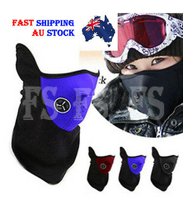 Neoprene Neck Warm Face Mask Skiing Snowboarding Motorcycle Bike *aus Stock*