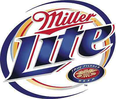 "Miller Lite Vinyl Sticker Decal 18"" (full color)"