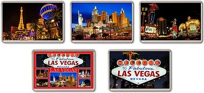 FRIDGE MAGNET - LAS VEGAS (Various) Large Jumbo, USA Nevada
