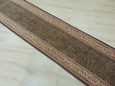 Brown Rubber-Back Hall-Runner, Hallway Rug, (80cm Width) *Assorted lengths*
