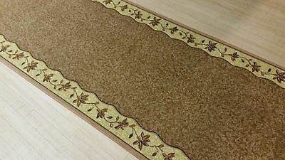 Beige RubberBack Hall-Runner, Hallway Rug, (80cm Width) *Assorted lengths*