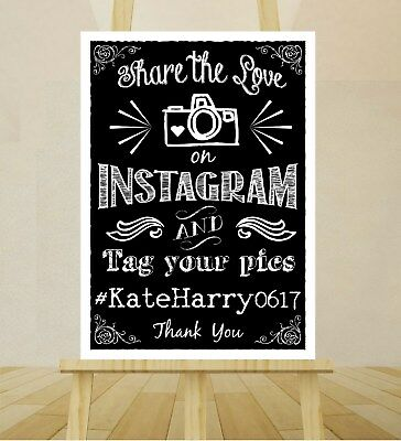 CHALKBOARD STYLE A4 Wedding Sign PRINT Venue Table Decoration VINTAGE RUSTIC